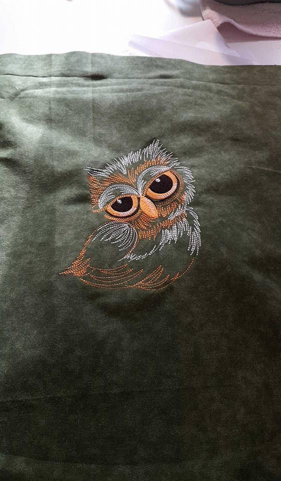 Sleepy owl 2 machine embroidery design