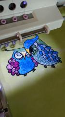 Making grouсhy owls embroidery design