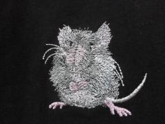 Little mouse machine embroidery design