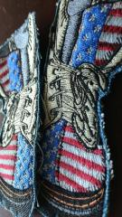 American military boots embroidery design