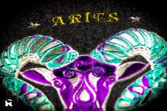 Close up Aries embroidery design