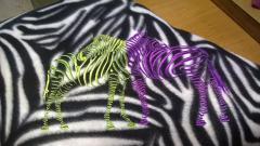 Colorful zebras free embroidery design
