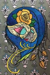 Dead beauty embroidery design
