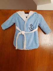 Embroidered baby bathrobe anchor applique free design
