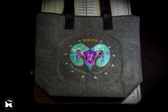 Embroidered bag Aries Zodiac sign