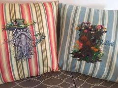 Embroidered cushions root men design