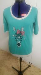Embroidered t-shirt with zebra in glasses free design