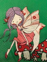 Fairy on agaric embroidery design