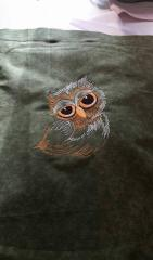 Sleepy owl machine embroidery design