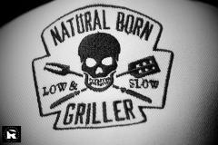 Natural born griller embroidery design