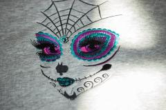 Skull make up embroidery design