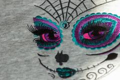 Skull makeup embroidery design