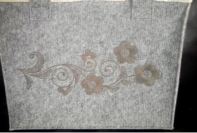 Floral ornament free embroidery design