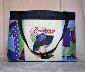 Frenchwoman on a bag machine embroidery design