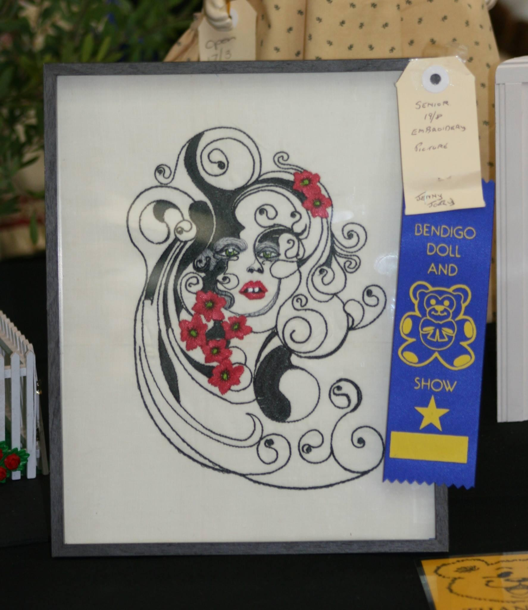 Framed beautiful spring free embroidery design