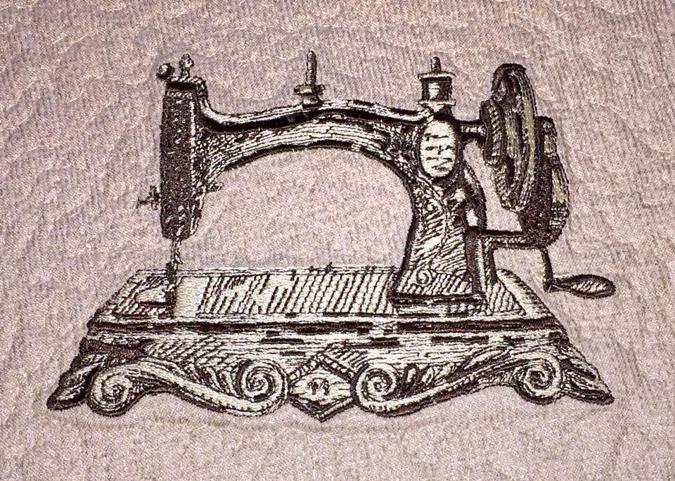Old Sewing Machine Embroidery Design Decoration Embroidery