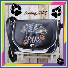 Embroidered bag animal's paws