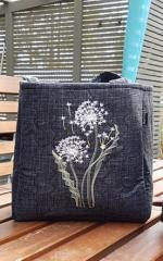 Embroidered bag with beautiful dandelions free design