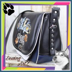 Embroidered bag pet's paws