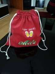 Embroidered backpack baby shoes