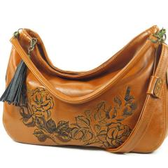 Embroidered bag with beautiful rose design