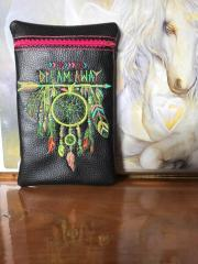 Embroidered handbag Feather dreamcatcher