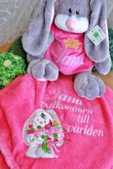 Embroidered set funny bunnies