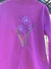 Embroidered sweater summer dandelions free design