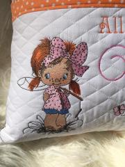 Fisher girl embroidery design