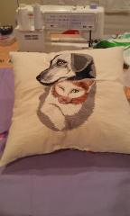 Cushion with free embroidery design