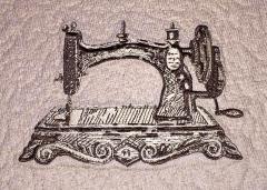 Old sewing machine embroidery design
