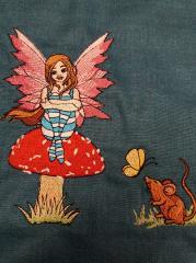 Sad fairy embroidery design