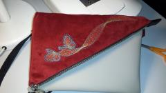 Small bag with Butterfly free embroidery