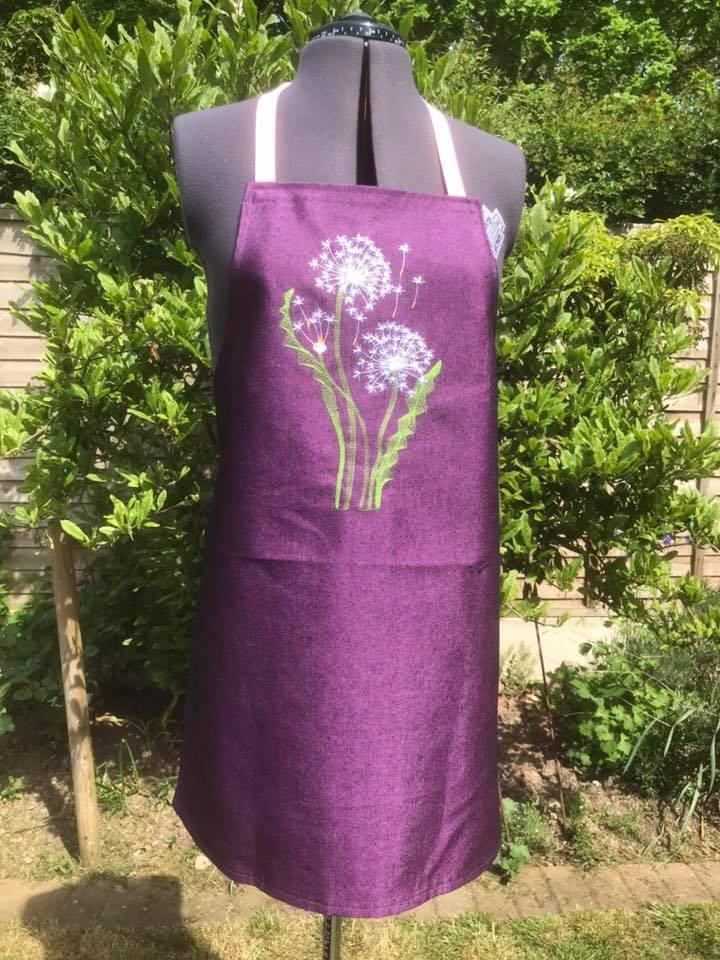 Embroidered apron light dandelions - Embroidery for ...