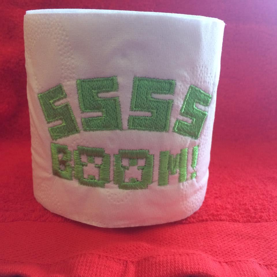 SSSS boom embroidery design