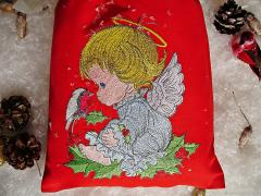 Embroidered gift set little angel