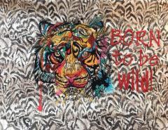 Tiger muzzle embroidery design