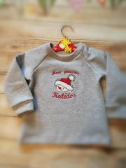 Embroidered sweater with merry snowman free design