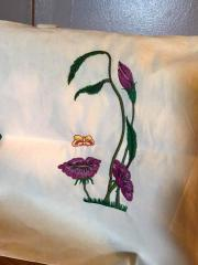 Embroidered pillow flower spirit free design
