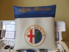 Bag with Alfa Romeo logo embroidery design