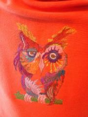 Fantastic owl machine embroidery design