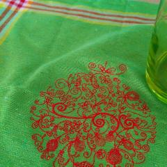 Сhristmas ball embroidered napkin
