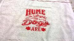 Home is where the dogs are embroidery design