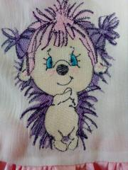 Little hedgehog embroidery design