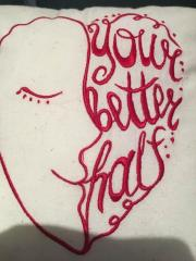 Your better half machine embroidery design
