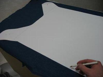 Cut finished pattern for dog clothes
