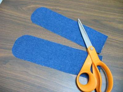 Cut pattern for zip