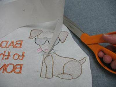 Embroidery design in pattern