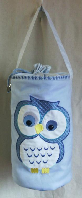 Embroidered bag with Cute Owl free design