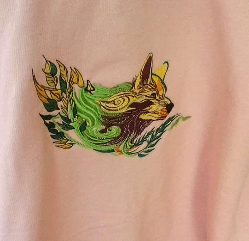 Wolf spirit embroidery design